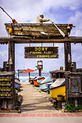 Orange Photos - Dory Fishing Fleet Market Newport Beach California by Paul Velgos