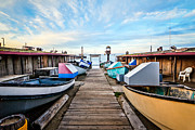 Morning Prints - Dory Fishing Fleet Newport Beach California Print by Paul Velgos
