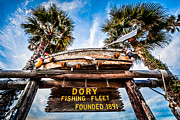 California Beach Photos - Dory Fishing Fleet Sign Newport Beach Balboa Peninsula Californi by Paul Velgos