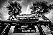 California Beach Photos - Dory Fishing Fleet Sign Picture in Newport Beach by Paul Velgos