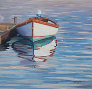 Dory Paintings - Dory Reflections by Julie Brayton
