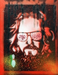 Big Lebowski Prints - Dos Dude Orange Print by Christopher  Chouinard