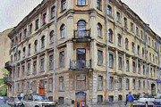 Saint Petersburg Prints - Dostoevskys House in Saint Petersburg Print by Yury Malkov