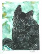 Canine Mixed Media Prints - Doting Eyes Print by Cori Solomon