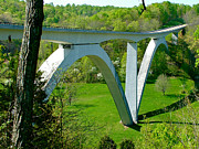 Natchez Trace Parkway Art - Double-arched Bridge Spanning Birdsong Hollow on Natchez Trace Parkway-TN by Ruth Hager