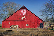 Painted Barn Quilt Posters - Double Bar N #1 Poster by Nikolyn McDonald