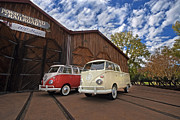 Volkswagon Posters - Double Cab and 23 Window Poster by Peter Tellone