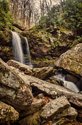Gatlinburg Tennessee Prints - Double Cascade Print by Heather Applegate