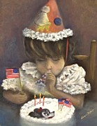 4th July Painting Prints - Double Celebration Print by Donna Vesely