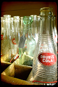 Flagg Digital Art Prints - Double Cola Bottles Print by Tiffany Dawn Smith