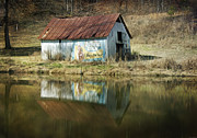 Red Roofed Barn Metal Prints - Double Cola Metal Print by Steven  Michael