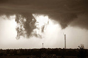 Funnel Clouds Prints - Double Colorado Tornado Print by Marilyn Hunt