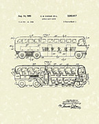 Two Story Posters - Double-Deck Coach 1951 Patent Art Poster by Prior Art Design