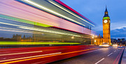 Bus Photo Originals - Double Decker and Big Ben by Adam Pender