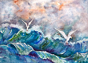 Stormy Weather Paintings - Double Dip by Renee Chastant