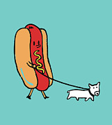 Cute Posters - Double Dog Poster by Budi Satria Kwan