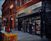 Chicago Landmark Paintings - Double Door Wicker Park Bucktown Chicago by Rick Liebenow