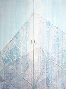 Paper Art Sculpture Posters - Double Doors to Peaceful Mountain Poster by Asha Carolyn Young