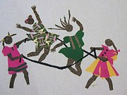 Dresses Tapestries - Textiles - Double Dutch by Ruth Ash
