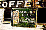 Old Building Framed Prints - Double Eagle Coffee Framed Print by Scott Pellegrin