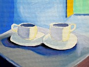 Two Espressos Paintings - Double Expresso  by Luff  Gallery