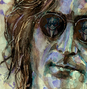 Singer Painting Posters - Double Fantasy Poster by Paul Lovering