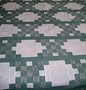 Quilt Art Photos - Double Irish Chain Quilt by Gail Matthews