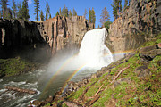Devils Postpile Photos - Double Rainbow Falls by Adam Jewell