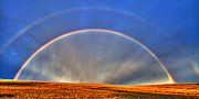 Colorado Front Range Photos - Double Rainbow by Scott Mahon