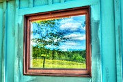 Cabin Window Posters - Double Reflection Poster by Geoffrey Coelho