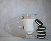 Cookies And Milk Prints - Double Stuff Print by Joanne Grant