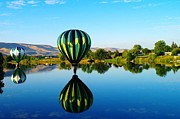 Yakima Valley Photo Framed Prints - Double Touchdown  Framed Print by Jeff  Swan