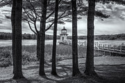 Maine Lighthouses Framed Prints - Doubling Point Light II Framed Print by Clarence Holmes