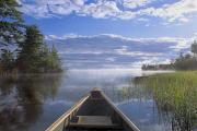 Doug Hamilton Early Morning Paddle On Print by Doug Hamilton