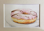 Strawberry Art Drawings Framed Prints - Doughnut You Want Some? Framed Print by Megan Doman
