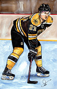 Nhl Hockey Drawings Prints - Dougie Hamilton Print by Dave Olsen