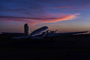 Murray Kentucky Posters - Douglas DC-3 Sunrise Poster by Amber Kresge