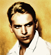 Actor Mixed Media - Douglas Fairbanks Jr by Zeana Romanovna