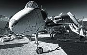 Douglas Skyhawk A-4b - Black And White Print by Gregory Dyer