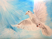 Peace Doves Paintings - Dove by Amanda Dinan