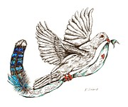 Faith Hope And Love Metal Prints - Dove Metal Print by Karen Sirard