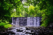 Main Line Framed Prints - Dove Lake Waterfall at Gladwyne Pa Framed Print by Bill Cannon