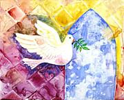 Dove Of Peace Print by Shirin Shahram Badie