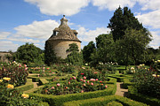 Landmark Pyrography Prints - Dovecote in a Rose Garden  Print by Paul Felix