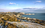 Winter Landscape Art - Dover docks by Ian Hufton
