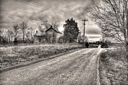 William Fields Metal Prints - Down a Dusty Back Road Metal Print by William Fields