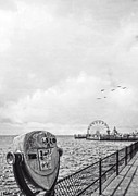 Saybrook Prints - Down at the Pier Print by Edward Fielding