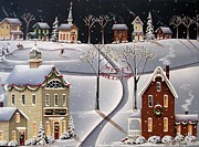 Folk Art Paintings - Down Home Christmas by Catherine Holman