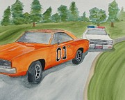General Lee Mixed Media - Down in Hazard county by Maureen Hargrove