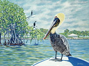 Pelican Painting Originals - Down in the Keys by Danielle  Perry